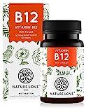 NATURE LOVE® Vitamin B12 Vegan - Vergleichssieger 2020* - 180 Tabletten. Beide aktive Formen...