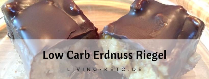 Low Carb Erdnuss Riegel