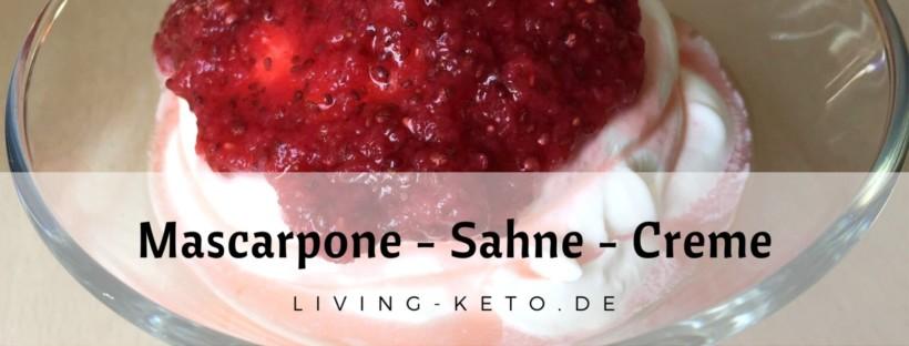 Mascarpone Sahne Creme ketogen