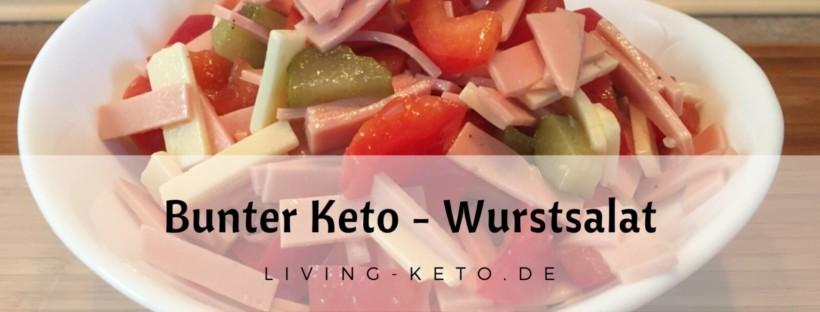 Bunter Keto-Wurstsalat