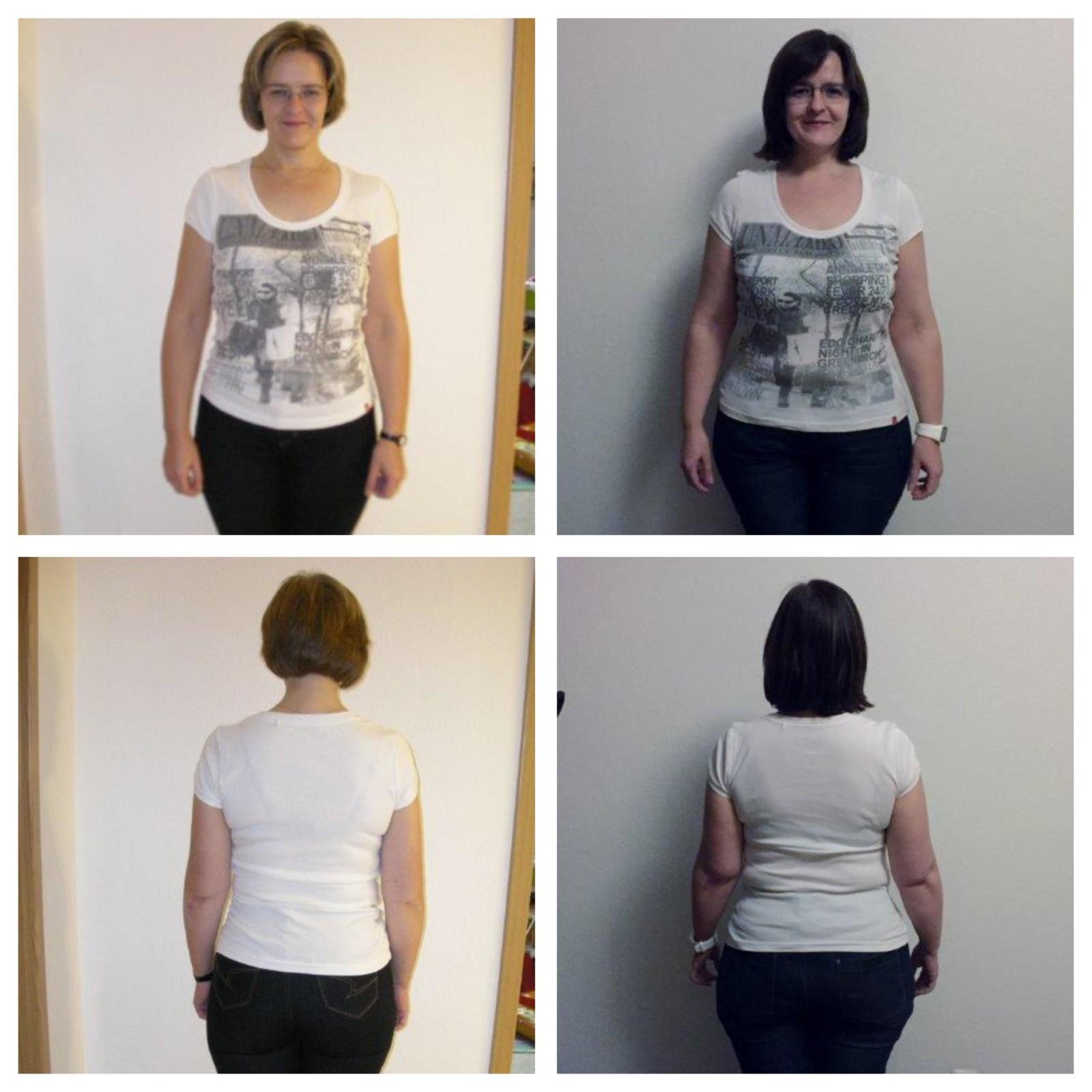 Links: 2009 und 70kg, Rechts: 2016 und 93kg.