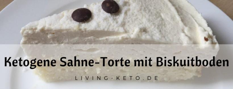 Ketogene Sahne-Mascarpone-Torte mit Biskuitboden