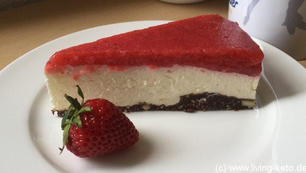 Mascarpone Erdbeer Torte Ketogen Leben