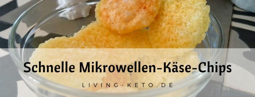 Schnelle Mikrowellen-Käse-Chips ketogen