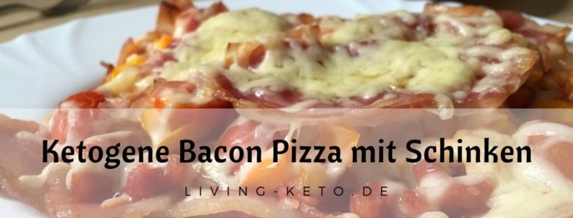 Ketogene Bacon Pizza mit Schinken