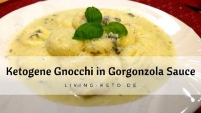 Ketogene Gnocchi in Gorgonzola-Sauce