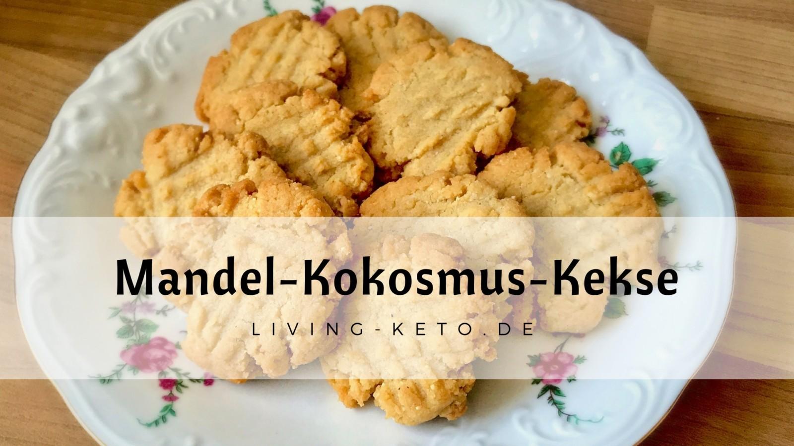 Ketogene Mandel-Kokosmus-Kekse