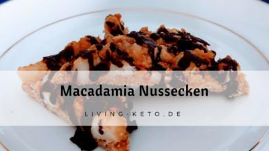 Ketogene Macadamia Nussecken