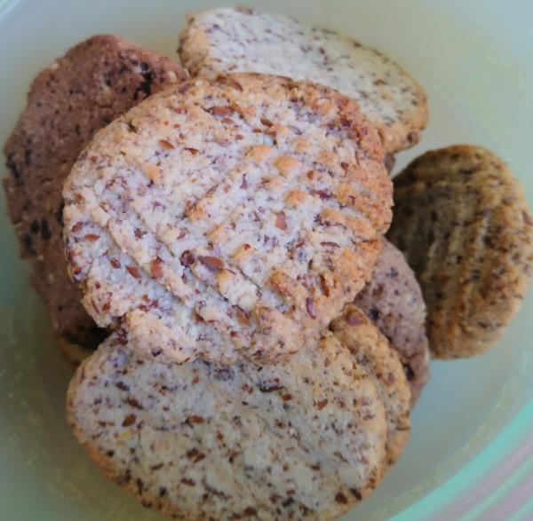 Mandel-Leinsamen-Cookies