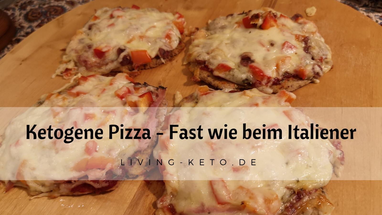 Ketogene Pizza – fast wie beim Italiener