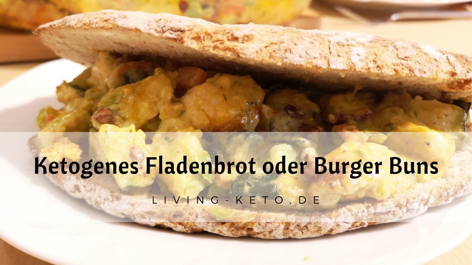 Keto Fladenbrot – ketogene Burger Buns