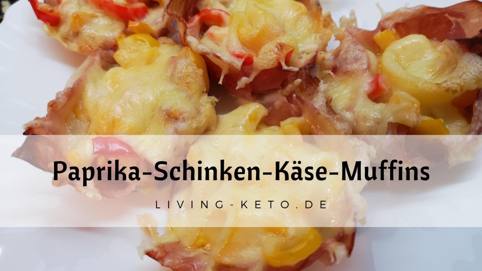 Paprika-Schinken-Käse-Muffins – ein kleiner Keto-Snack